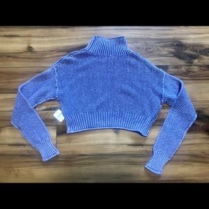 Free People Cropped Cable Knit Sweater